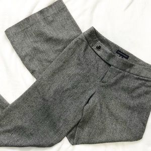 Banana Republic Gray tweed wool wide leg pants 4